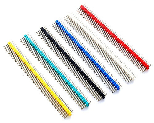 Color Break-away Dual Row Male Header Pins - 100 Pack from PMD Way with free delivery worldwide
