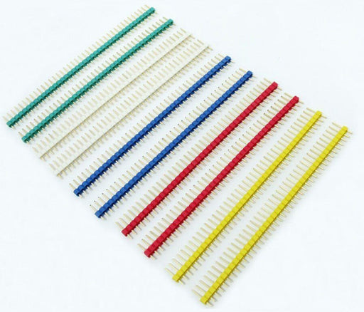 Assorted Color Break-away 40x1 Male Header Pins - 120 Pack from PMD Way with free delivery worldwide