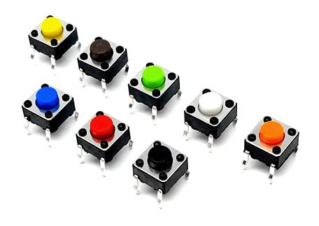 6 x 6 x 5mm Color Tactile Buttons in packs of 100 from PMD Way with free delivery worldwide