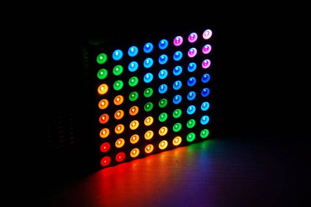 Create fun displays and effects with the chainable Colorduino RGB LED Matrix Display and Controller Board from PMD Way with free delivery, worldwide