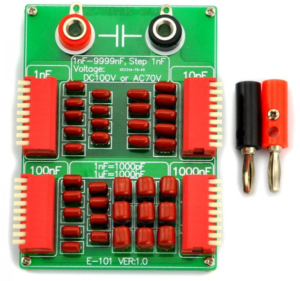 Create capacitor values between 1nf and 9999nf with this Four Decade Programmable Capacitor Board from PMD Way with free delivery worldwide