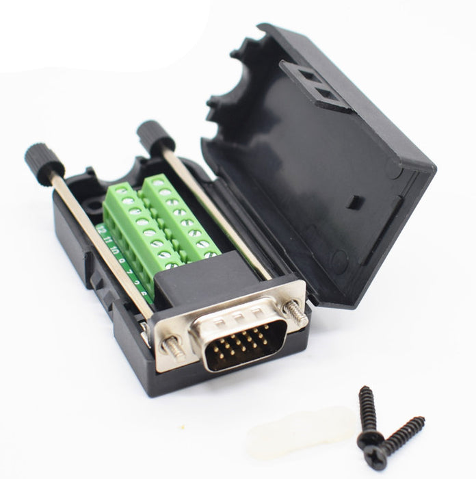 Convenient DB15 VGA Male Breakout Connector from PMD Way with free delivery worldwide