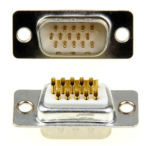 DB15 VGA Solder Type Connectors Optional Metal Backshell from PMD Way with free delivery worldwide