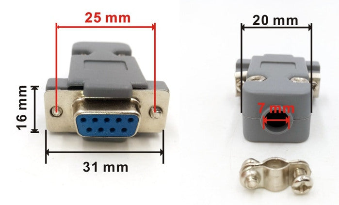 DB9 Solder Connector with Backshell from PMD Way with free delivery worldwide