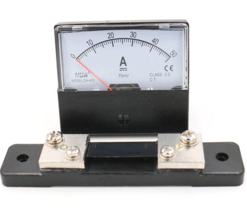 DH-670 Analog DC Ammeter Current Meter 0~50A DC with Shunt from PMD Way with free delivery worldwide