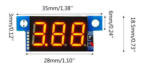 """Compact DC 4V-30V 0-10A Digital 0.36"""" LED Ammeter from PMD Way with free delivery worldwide"""