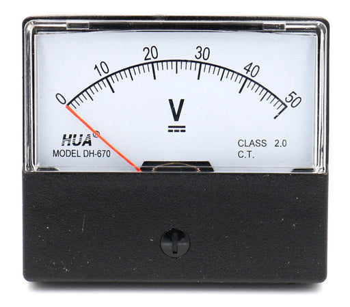 DH-670 Analog DC Voltmeter - 100V 150V 250V 300V 450V 500V Ranges from PMD Way with free delivery worldwide