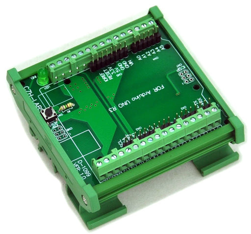 Quality DIN Rail Screw Terminal Block for Arduino Uno R3 from PMD Way with free delivery, worldwide