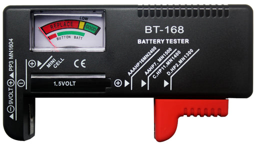 Easily test disposable 1.5V and 9V batteries with this Universal Disposable Battery Tester from PMD Way - with free delivery worldwide