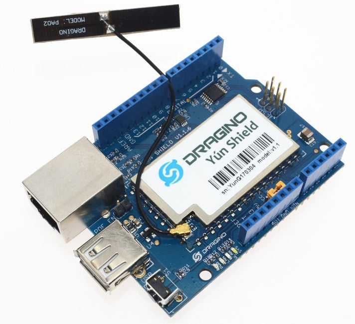 Connect your Arduino to the Internet via Linux with the AR9331 Yun Shield for Arduino with WiFi Antenna from PMD Way with free delivery, worldwide