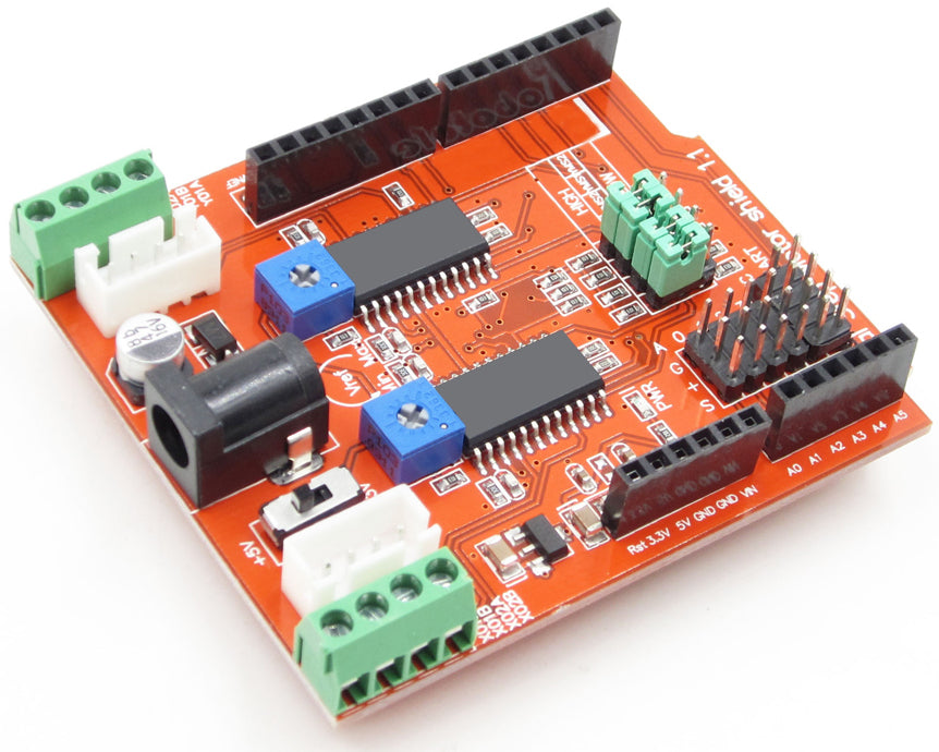 Control two stepper motors with the A3967 Dual Stepper Motor Driver Shield for Arduino from PMD Way with free delivery, worldwide