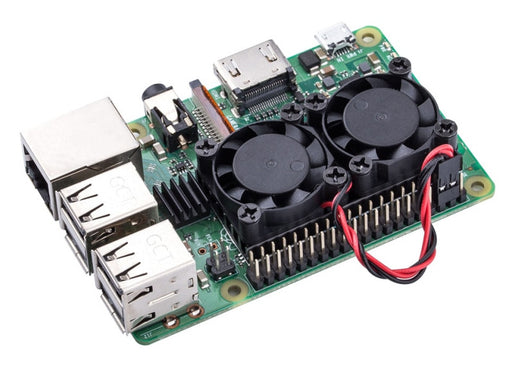 Raspberry Pi 3B 3B+ Dual Fan Heatsink Cooling System from PMD Way with free delivery worldwide