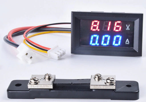 Dual DC Voltmeter Ammeter with Shunt DC 0~100V 0~100A from PMD Way with free delivery worldwide