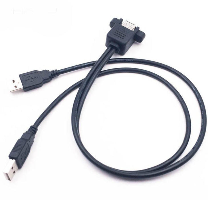 Dual Panel Mount USB Extension Cable from PMD Way with free delivery worldwide