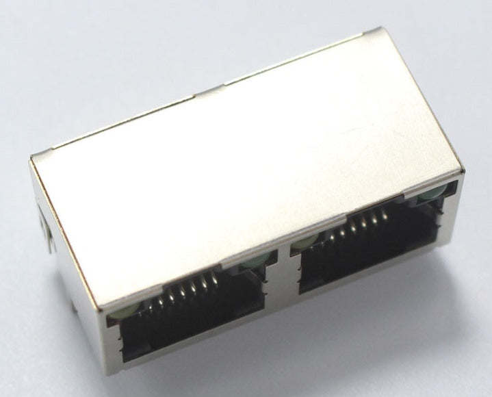 Dual Metal RJ45 Ethernet Socket Module with LEDs from PMD Way with free delivery worldwide