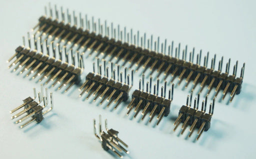 Break-away Dual Row Male Right Angle Header Pins - 100 Pack from PMD Way with free delivery worldwide