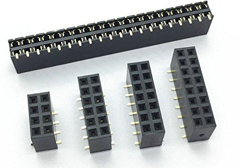 Double Row SMD SMT Female Headers - 100 Pack from PMD Way with free delivery worldwide