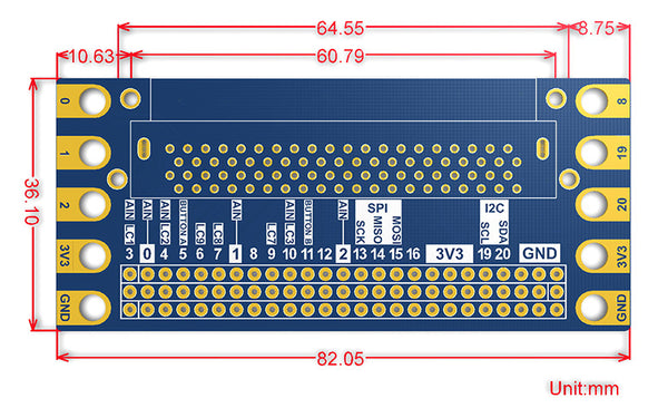 Harness all the connections with the Edge Connector Breakout Board for BBC micro:bit from PMD Way with free delivery worldwide