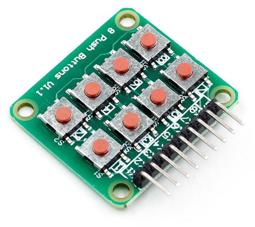 Save hassle and use this Eight Button Breakout Board, ideal for Arduino and Raspberry Pi- from PMD Way with free delivery worldwide