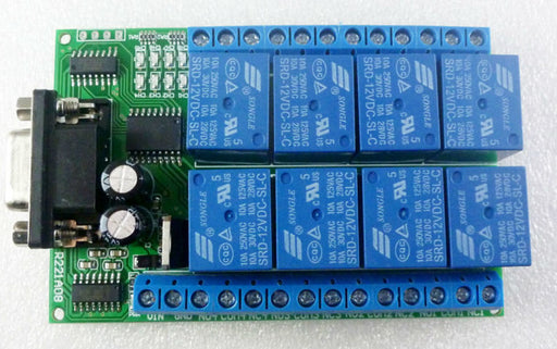 Eight Channel RS232 Control Relay Board - 12V DC from PMD Way with free delivery worldwide
