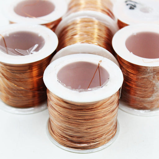 Enameled Copper Magnet Wire - 0.1 to 1mm - 100g Roll from PMD Way with free delivery worldwide