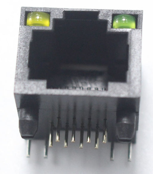 Plastic PCB Mount RJ45 Sockets with LEDs - 5 Pack from PMD Way with free delivery worldwide