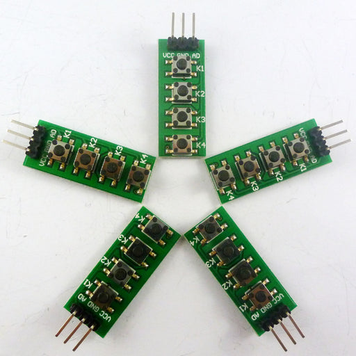 Four Button Boards with Analog Output in packs of five from PMD Way with free delivery worldwide