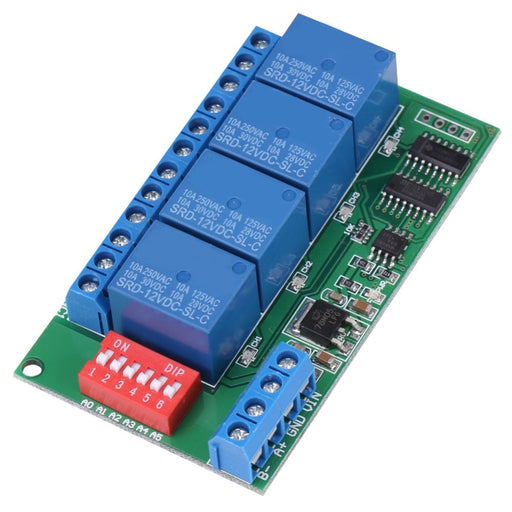 Four Channel RS485 Relay Module - 12V DC from PMD Way with free delivery worldwide