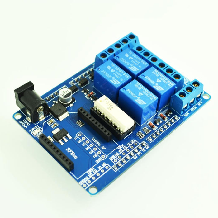Great value Four Relay Shield for Arduino with External Power and XBee Socket from PMD Way with free delivery, worldwide