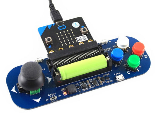 Portable game play made easy with the Gamepad Power Module for BBC micro:bit from PMD Way with free delivery worldwide
