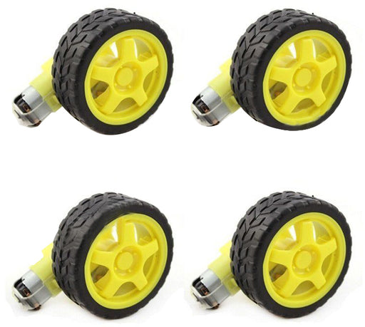 Smart Car Gearmotors with Wheel - Four Pack from PMD Way with free delivery worldwide