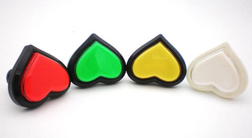 Heart-shaped LED Illuminated Arcade Buttons from PMD Way with free delivery worldwide