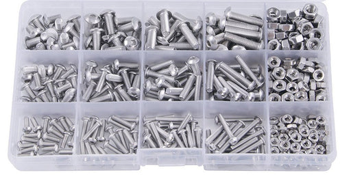 Assorted M2 M3 M4 Hex Bolt and Nut Kit - 480 Pieces from PMD Way with free delivery worldwide
