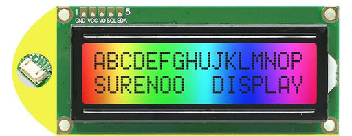 1602 Character LCD Modules with Positive RGB and I2C Interface in packs of five from PMD Way with free delivery worldwide