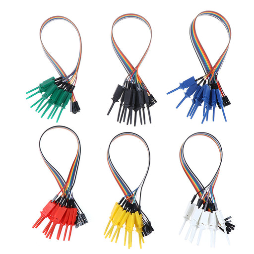 IC Test Hook to Dupont Female Leads - 10 Pack