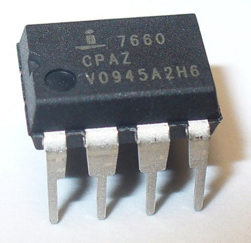ICL7660 CMOS Voltage Converter ICs in packs of fifty from PMD Way with free delivery worldwide