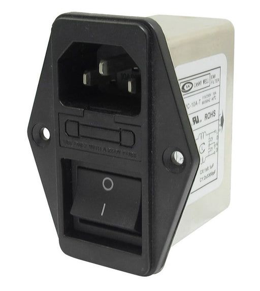 Switched IEC Socket with EMI Filter and Fuse Holder from PMD Way with free delivery worldwide