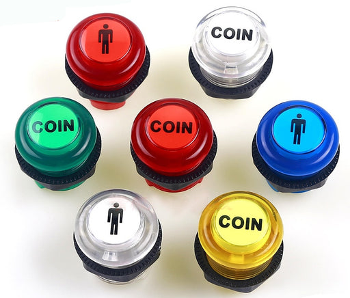 30mm LED Illuminated One Player Two Player Coin Arcade Buttons from PMD Way with free delivery worldwide