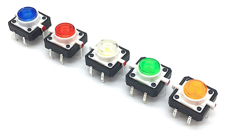 Illuminated LED Tactile Buttons in packs of ten from PMD Way with free delivery worldwide