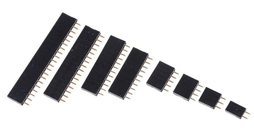Female Single Row Header Strips in packs of ten from PMD Way in various sizes and free delivery worldwide
