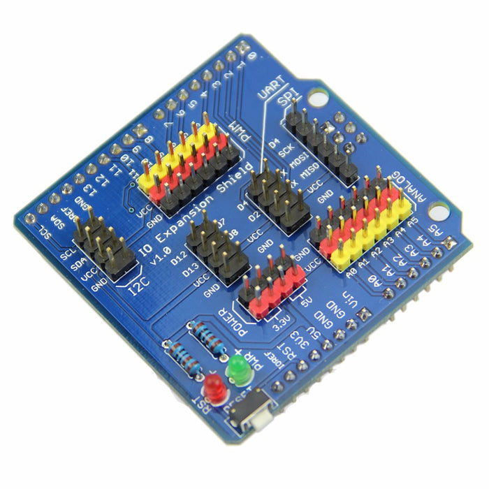 Easily conect servos and more to your Arduino with the Sensor I/O Shield for Arduino from PMD Way - with free delivery, worldwide