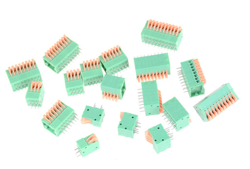 KF141R Wire to Board Spring Connector Terminal Blocks - 2.54mm Pitch - 5 Pack from PMD Way with free delivery worldwide