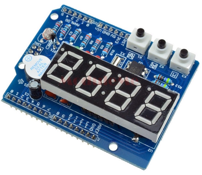 Great beginner Arduino shield with real-time clock, temperature and light sensors and more from PMD Way with free delivery, worldwide