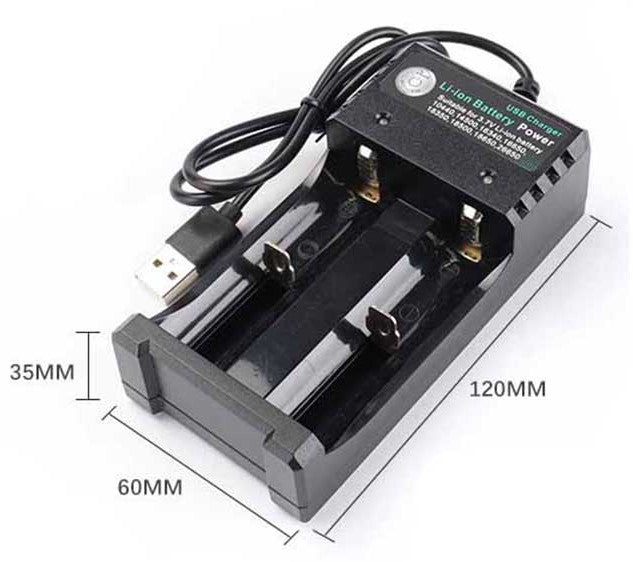 USB Lithium Ion Battery Charger for Various 3.7V Li-Ion 14500 18650 from PMD Way with free delivery worldwide