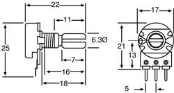 Linear WH148 type Potentiometers - 5 Packs from PMD Way with free delivery worldwide