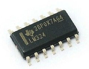 LM324D Low Power Quad Op-Amp SMD SOP14 ICs in packs of 100 from PMD Way with free delivery worldwide