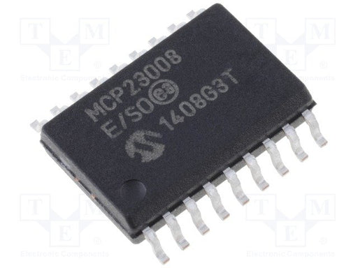 MCP23008 - I2C 8 Input/Output Port Expander SMD SOP18 ICs in packs of five from PMD Way with free delivery worldwide