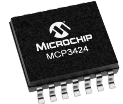 MCP3424 18-Bit ADC-4 Channel with Programmable Gain Amplifier ICs from PMD Way with free delivery worldwide