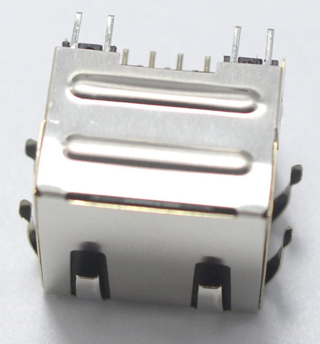 Metal PCB Mount RJ45 Socket with LEDs - Twin Pack from PMD Way with free delivery worldwide