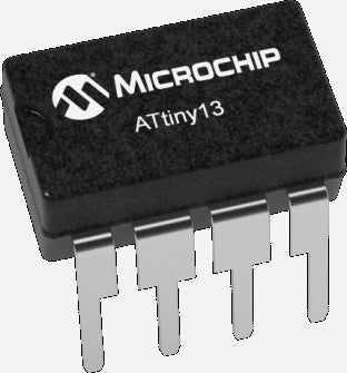Microchip ATTINY13A-PU AVR8 DIP Microcontroller - Ten Pack from PMD Way wtih free delivery, worldwide